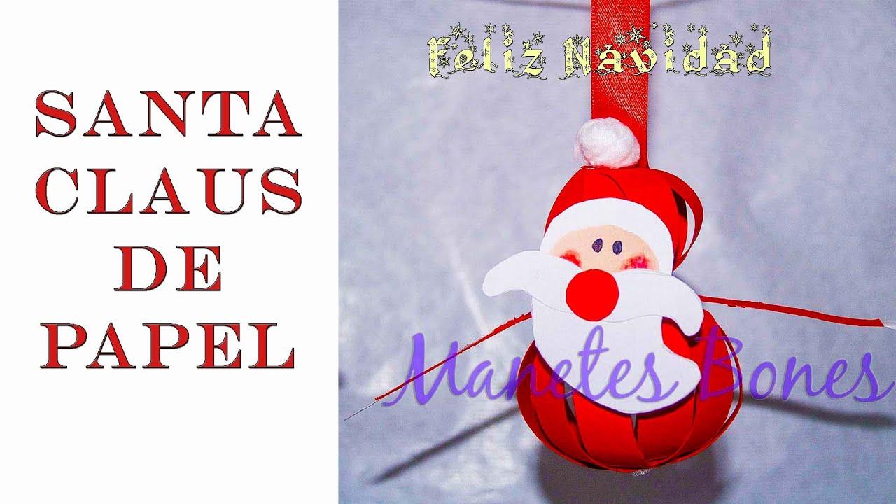 Adornos de pap noel para el rbol de navidad viernes de - Adornos de papel para navidad ...