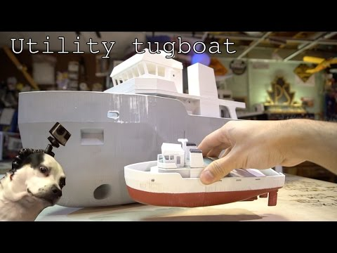 Giant 3D printed Utility tugboat Part 1
