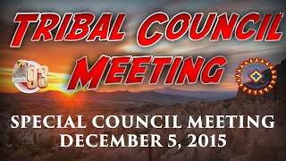 special tribal council meeting