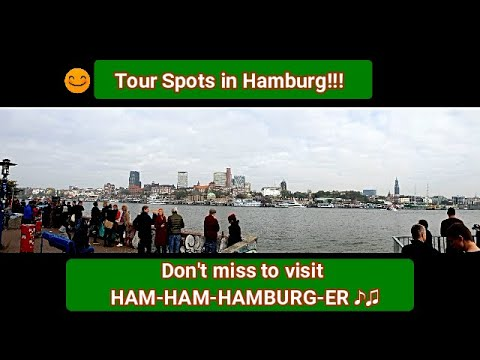 Hamburg tourist spots - please check at the information box to have a image of Hamburg city ーハンブルク旅行