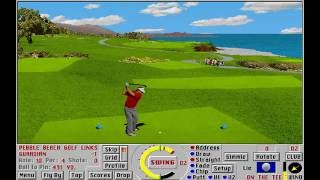 Links: Championship Course - Pebble Beach Golf Links (Access Software) (MS-DOS) [1993]