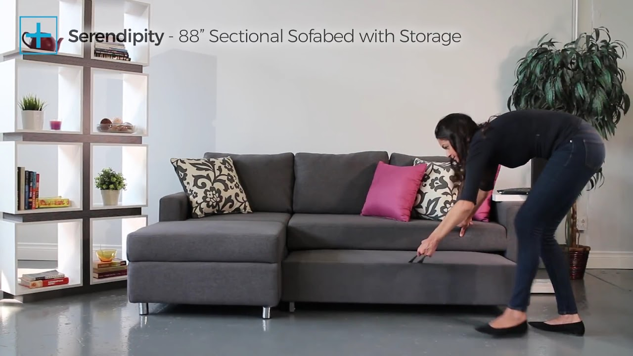 Serendipity 88 Sectional Sofabed With