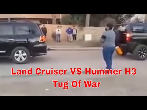 Land Cruiser VS Hummer H3 - Tug Of War - YouTube
