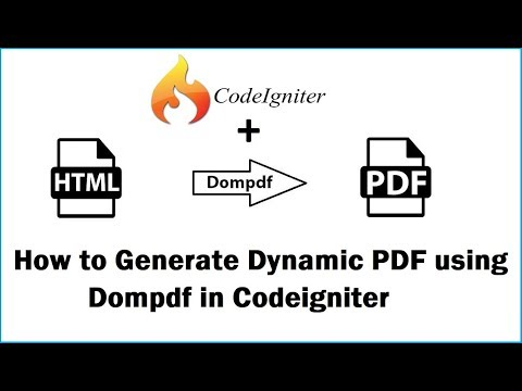 How to Generate Dynamic PDF using Dompdf in Codeigniter