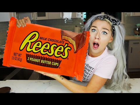 Thumbnail: WORLDS BIGGEST CANDY! THE GIANT CANDY EXPERIMENT CHALLENGE DIY! REESES, SNICKERS, HERSHEY'S, YORK