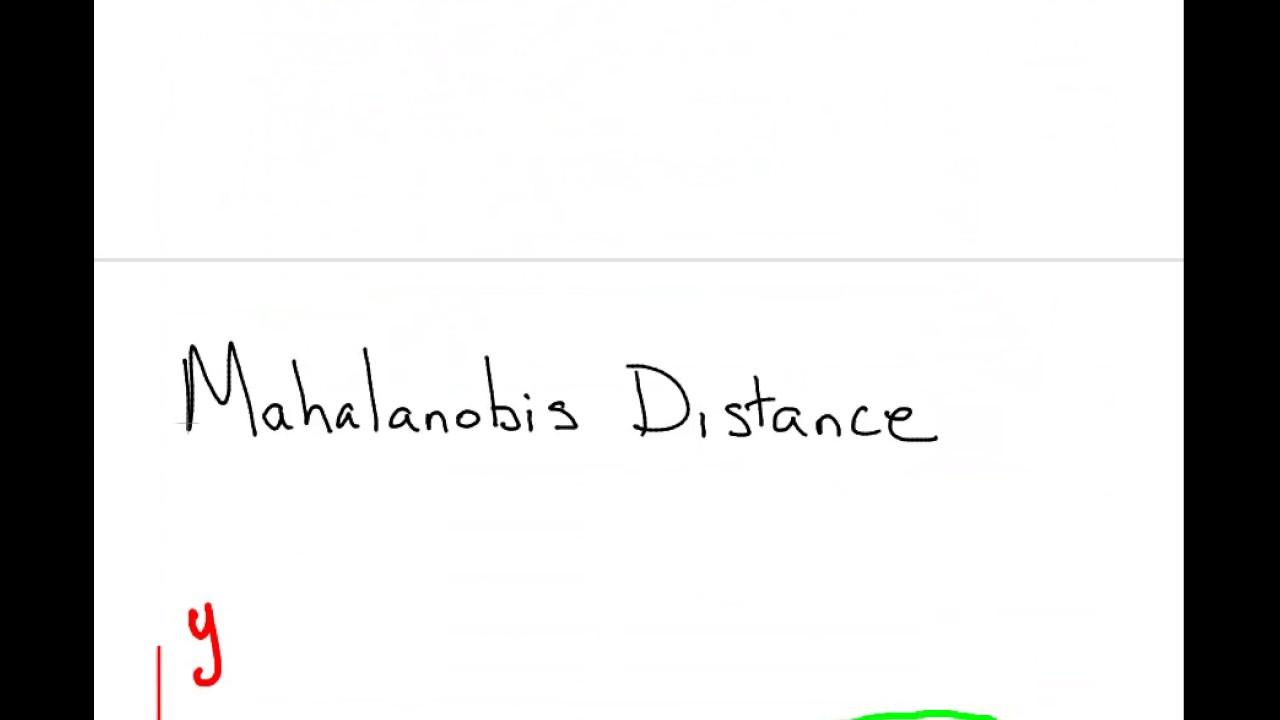 Mahalanobis Distances - YouTube