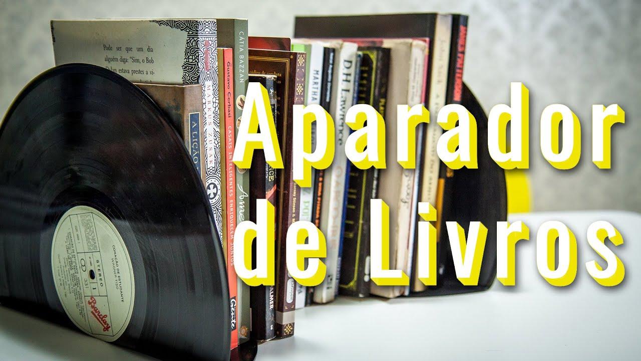Artesanato Com Madeira Pregos E Linha ~ DIY Aparador de livro retr u00f4 com disco de Vinil (Dica de presente para o dia das m u00e3es) YouTube