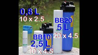 BB10 BB20 filters and filter housings water