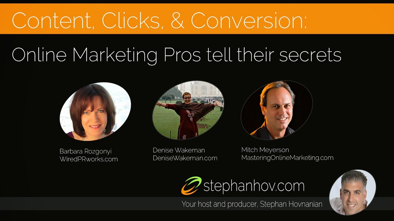 Content Clicks Conversion Online Marketing Pros Tell