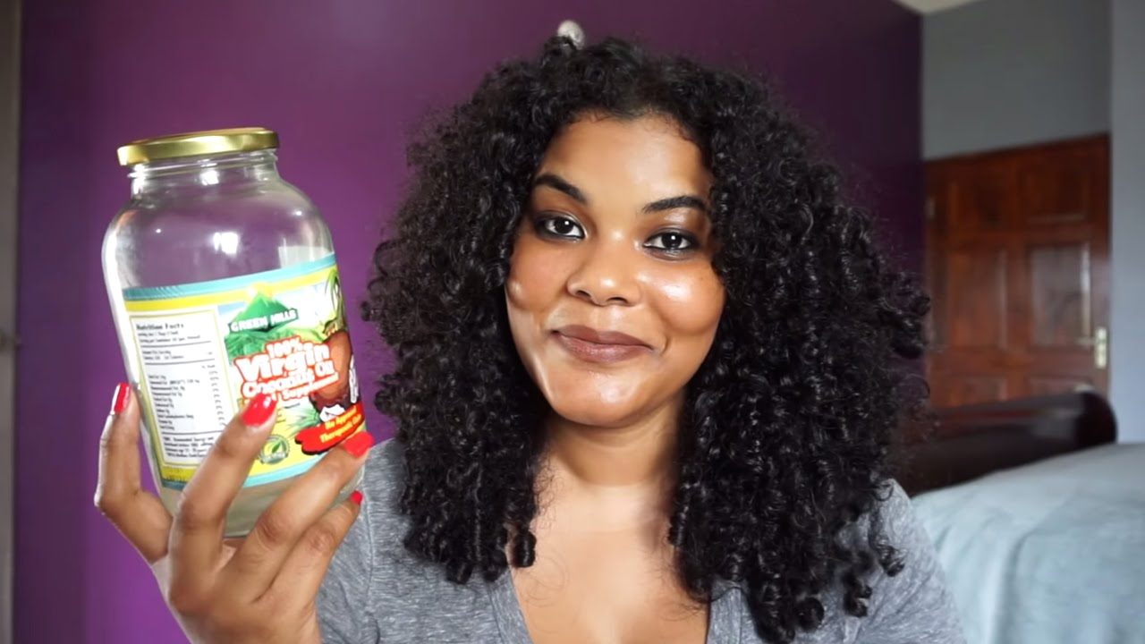 Image result for black girl using coconut oil moisturizer