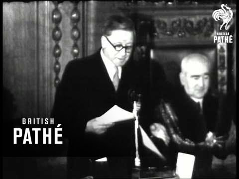 Mr Morrison Receives Freedom Of Lambeth (1947)