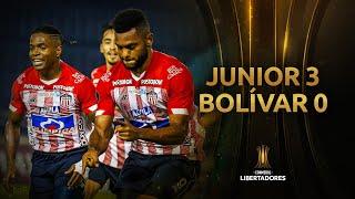 Junior vs. Bolívar [3-0] | RESUMEN | Fase 3 | VUELTA | CONMEBOL Libertadores