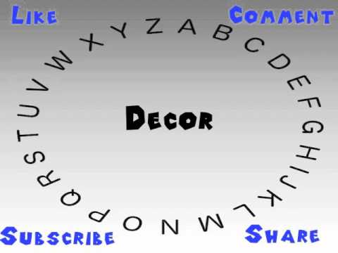 How To Say Or Pronounce Decor Youtube