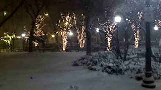 Snow in downtown Chicago (March 14, 2017, 6 AM)