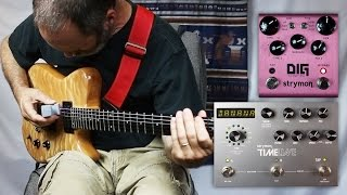 EBow (E-Bow) Ambient Guitar with the Strymon DIG Dual Digital Delay and Strymon Timeline