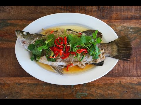 Steamed Fish With Ginger And Garlic Paste