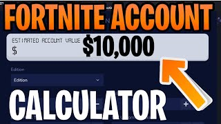 How Much Money is My Fortnite Account Worth - Calculator