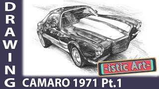 Amazing drawing: Camaro from 1971 Part 1