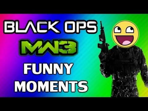 Black Ops & MW3: Funny Moments w/ Wildcat and Friends - On Top of the Bus, Death Reactions & More