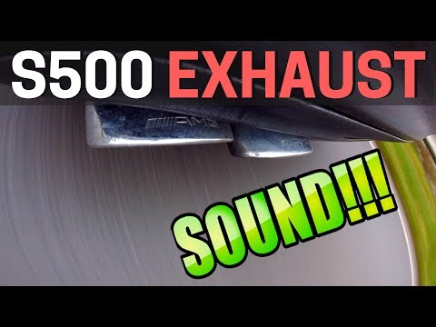 2006 Mercedes S500 SOUND AMG S63 Exhaust System W221 | (60FPS) HD
