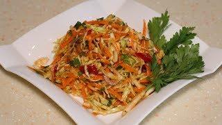 Необычный салат из капусты, а изюминка вся в маринаде.