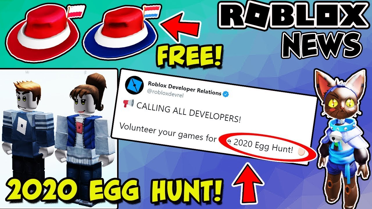 ROBLOX NEWS: EGG HUNT 2020 EVENT ANNOUNCED, Free New Fedora, RThro Figures & Leaks