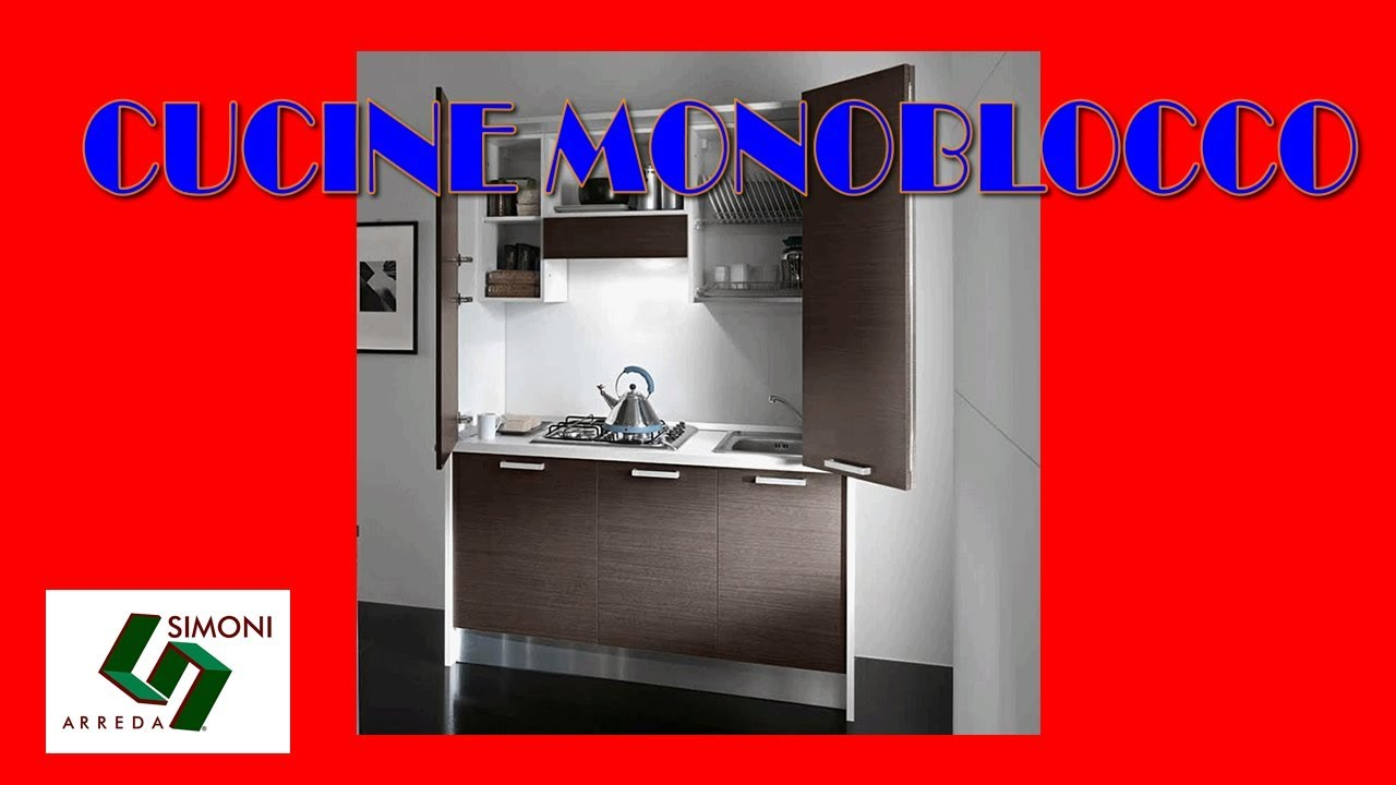 Cucine Monoblocco e Mini Cucine salvaspazio Simoni - YouTube