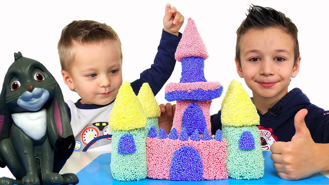 Замок Принцессы Софии Прекрасной из шарикового пластилина. Ищем героев мультфильма Видео для детей