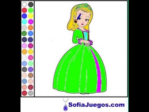 Juego: Colorear Princesa Amber Gratis Online - YouTube