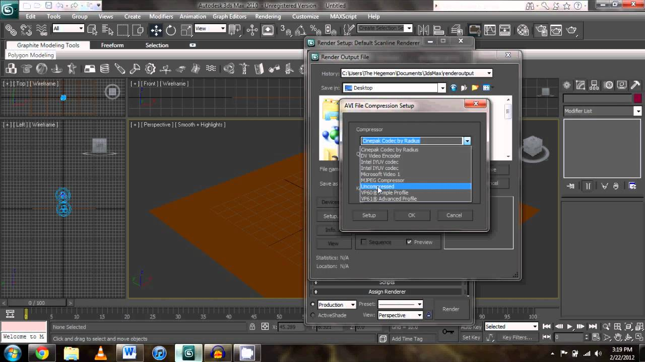 How To Render Your 3ds Max Project As And Avi Youtube