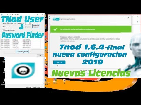 Eset Nod32 Ultima Version 2019 Licencias Con TNod User Y Pasword Finder Nueva Configuración