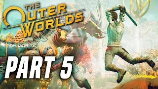 THE OUTER WORLDS Gameplay Walkthrough Part 5 - Roseway! FULL GAME (PS4 PRO 60FPS)
