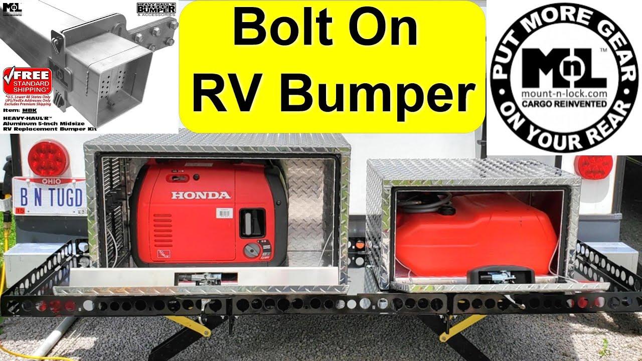 bolt on rv bumper mount n lock heavy haul r