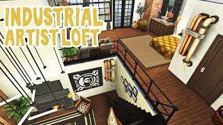 Industrial Artist Loft || The Sims 4 Apartment Renovation: Speed Build