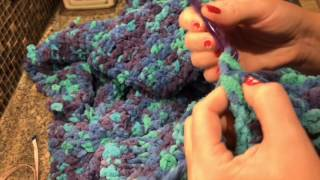 Плед с рукавами - вязание крючком