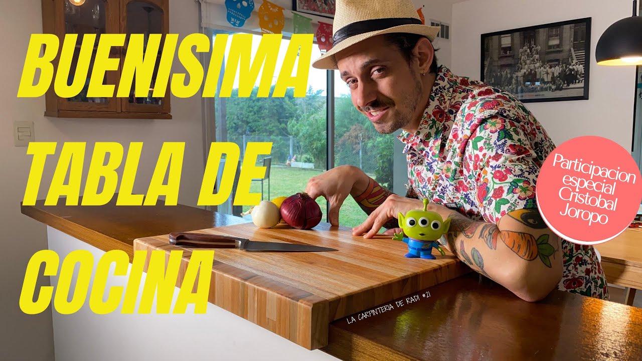 TABLA DE COCINA ESPECTACULAR - con traba para mesada -