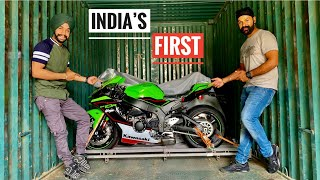 Unloading INDIA'S FIRST ZX10R 2021 of @JS Films