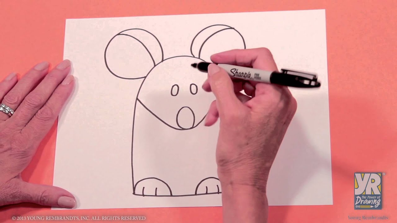 Scribble Drawing Exercise : Kids drawing activity how to draw a mouse youtube