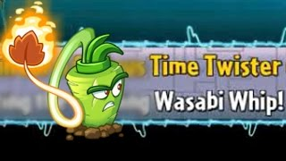 Plants vs Zombies 2 - Time Twister #1: Wasabi Whip | Cabbage-pult new Time Twist Costume