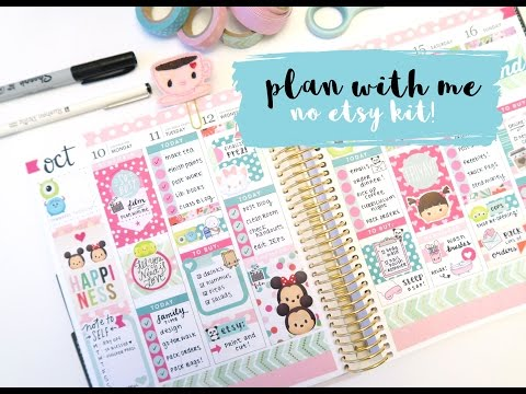 Plan with Me - No Etsy Kit Tsum Tsum Spread!