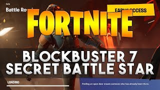 BLOCKBUSTER #7 Secret Battle Star Location - Fortnite Week 7 Challenge