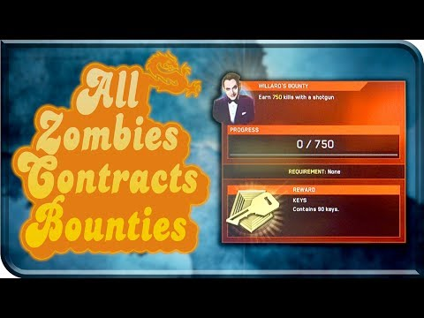 "ZOMBIES BOUNTIES, CONTRACTS F&F CARDS and DLC3 MAP NAME ""NOW LIVE"" (Call Of Duty Infinite Warfare)"