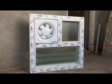 bathroom ventilator with exhaust fan fittings demo video exhaust louver upvc window and doors