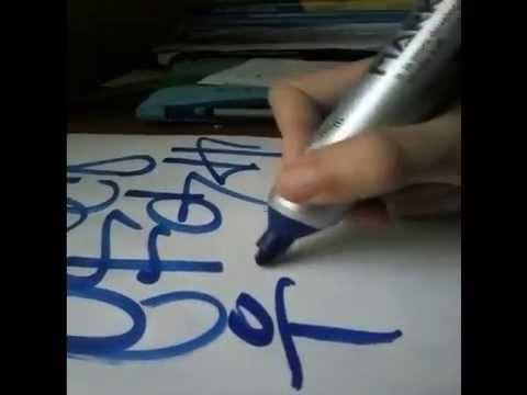 Como Hacer Graffitis Faciles Y Rapido Abecedario Tag 2 2014