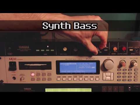 [1984] Yamaha R1000 Digital Reverberation (mono 12-bit with 3-band EQ) Demo