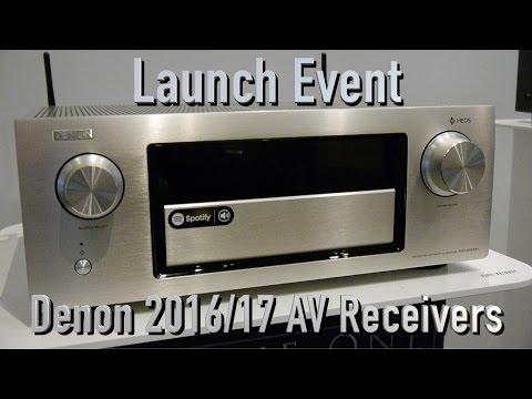 Denon Launch 2016 AV Receiver line-up including HEOS