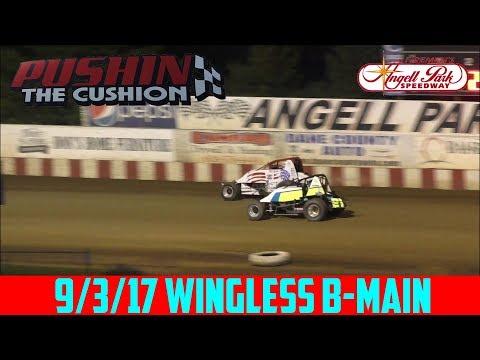 Angell Park Speedway - 9/3/17 - Wingless - B-Main