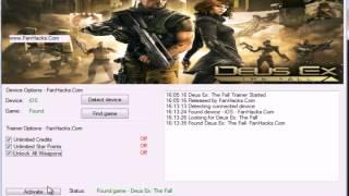 More  Download httpwwwfanhackscomdeusexthefallcheatshacksios Deus Ex The Fall Hacks iOS Features Unlimited Credits Unlimited Star Points