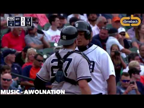 David Robertson Flies Out of Bullpen in Tigers Brawl Miguel Cabrera Austin Romine