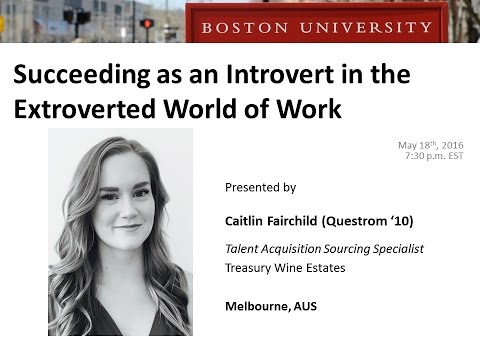 Succeeding as an Introvert in the Extroverted World of Work